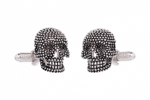 Silver and Black Skull Cufflinks